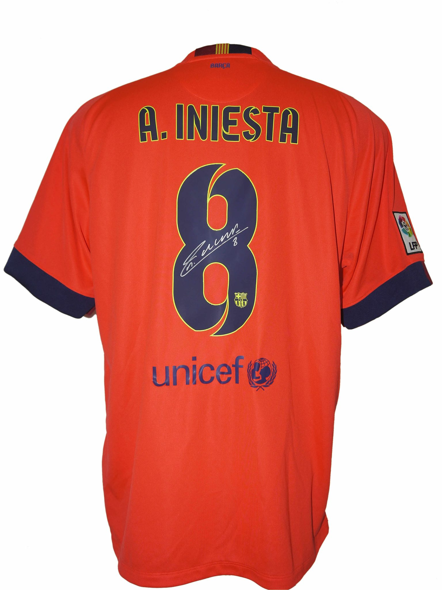 new styles 139ca 7b56c Andres Iniesta Signed 2014-15 Barcelona Away Shirt