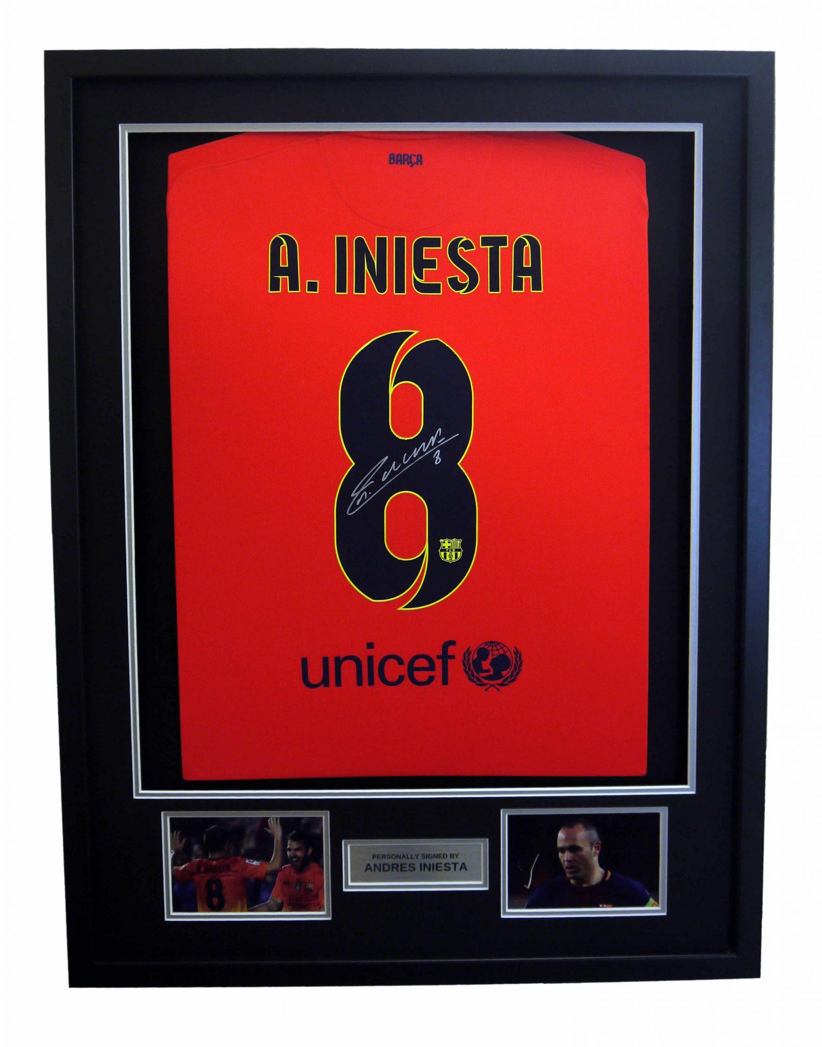 23f795b53bd Andres Iniesta Signed 2014-15 Barcelona Away Shirt