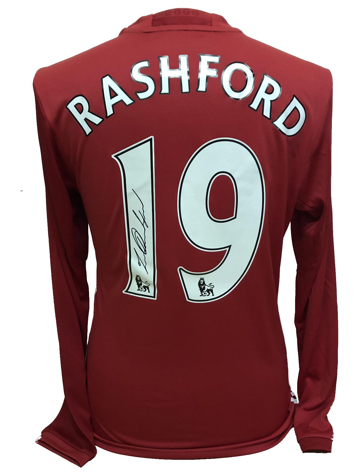 new concept ec9f3 80af0 Marcus Rashford signed united shirt