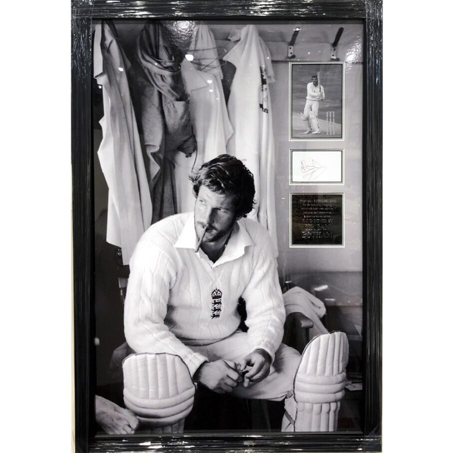 Ian Botham Large signed & framed 1981 Ashes photo presentation