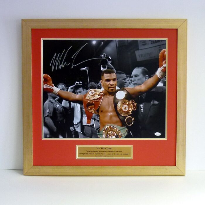 Mike Tyson – Signed & framed presentation