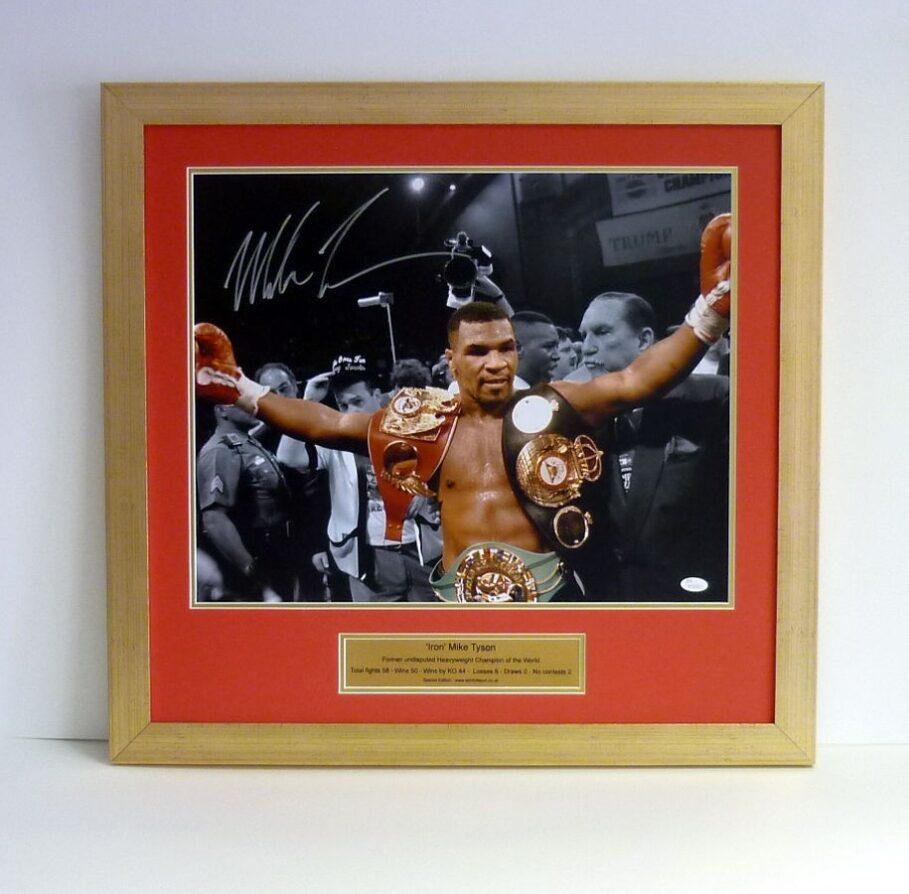Mike Tyson – Signed & framed presentation