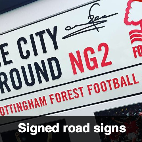 Signed Road Signs