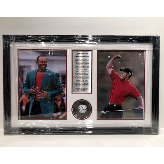 Tiger Woods - 2019 Masters Signed & Framed Presentation with photos