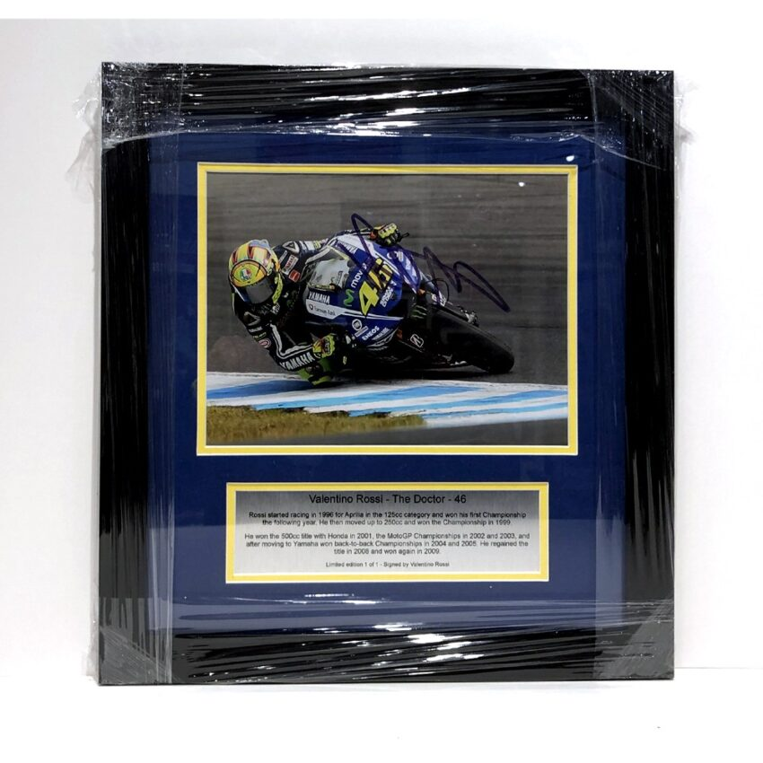 Valentino Rossi signed and framed presentation