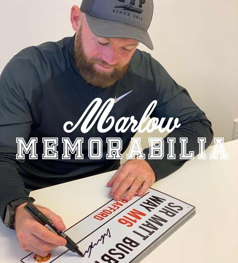 Old Trafford Sign Personally signed by Wayne Rooney