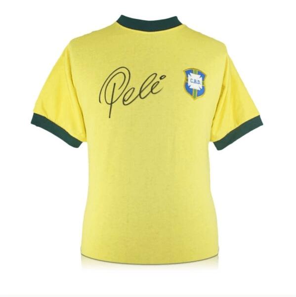 Signed Pele Brazil shirt